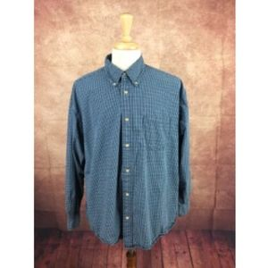 Wrangler Men's Blue Plaid Shirt XL